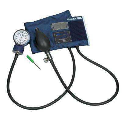 Caliber Adjustable Aneroid Sphygmomanometers with Blue Nylon Cuff for Large Adult
