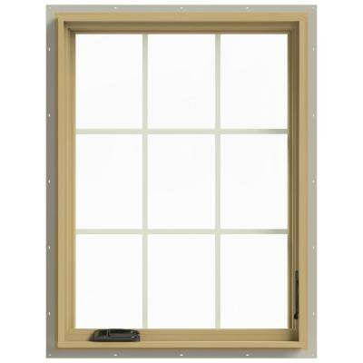 30 in. x 40 in. W-2500 Right Hand Casement Aluminum Clad Wood Window