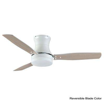 Modernaire 52 in. Pure White Ceiling Fan and Light