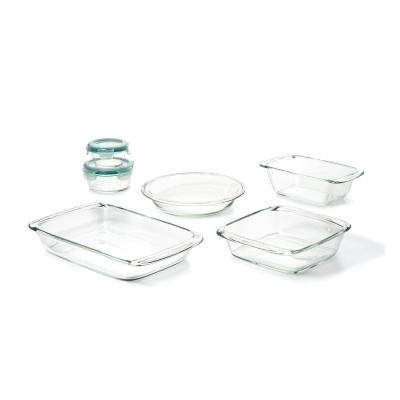 8-Piece Glass, Bake, Serve and Store Bakeware Set