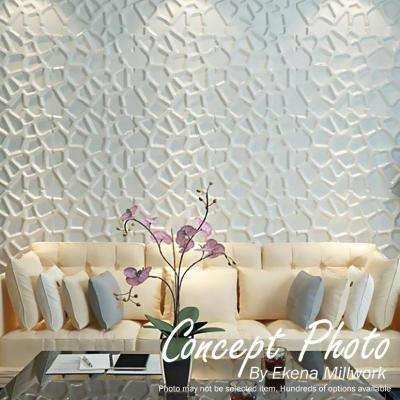 1 in. x 19-5/8 in. x 19-5/8 in. White PVC Niobe EnduraWall Decorative 3D Wall Panel
