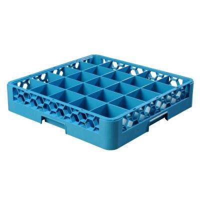 19.75x19.75 in. 25-Compartment Glass Rack (for Glass 3.25 in. Diameter, 3.19 in. H) in Blue (Case of 6)