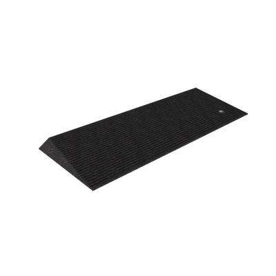 TRANSITIONS Black Rubber Threshold Mat with Beveled Edges 14 in. L x 40 in. W x 1.5 in. H