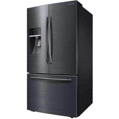 28.07 cu. ft. French Door Refrigerator in Black Stainless Steel