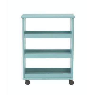 Stanton 20 in. W Multi-Function 3-Shelf Storage Cart in Blue