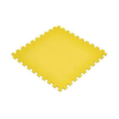 Yellow 24 in. x 24 in. EVA Foam Non-Toxic Solid Color Interlocking Tiles (72 sq. ft. - 18 tiles)