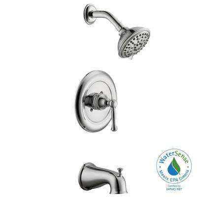 Fairway Single-Handle 3-Spray Tub and Shower Faucet in Chrome