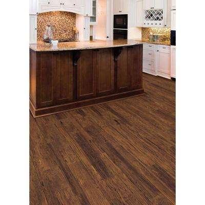 HandScraped Distressed Montecito Oak 3/8 x 3-1/2 x 6-1/2 in. Wx Varying L Engineered Hardwood Flooring(26.25 sq.ft./cs)