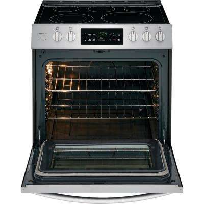 30 In 5 0 Cu Ft Single Oven Electric Range With Self Cleaning