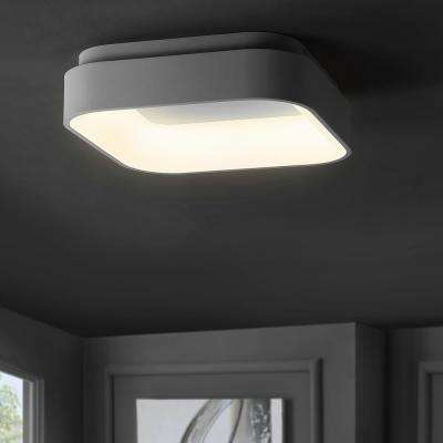 Rafael 17.7 in. White Integrated LED Metal Flush Mount Ceiling Light