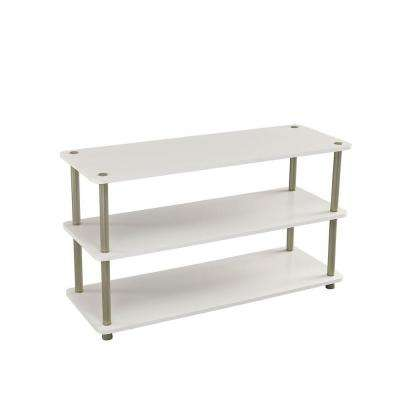 3-Tier Shoe Organizer in White