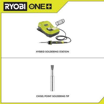 18-Volt ONE+ Hybrid Soldering Station (Tool-Only) with extra Chisel Point Soldering Tip