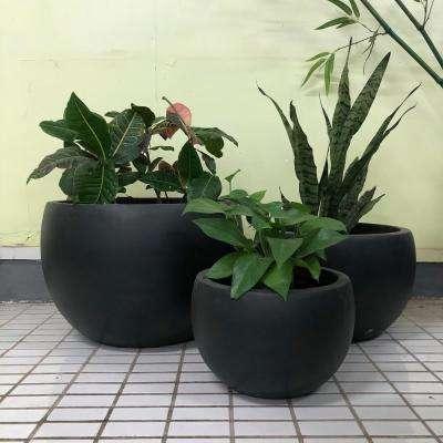 Lightweight Concrete Bowl Planter (Set of 3)