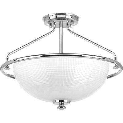 Lucky Collection 3-Light Polished Chrome Semi Flush Mount