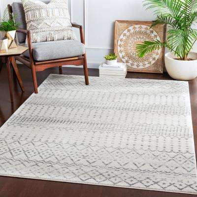 Eurydice Ivory 7 ft. 10 in. x 10 ft. 3 in. Moroccan Area Rug