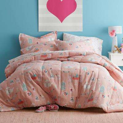 Tea For Two 200-Thread Count Cotton Percale Comforter