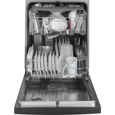 24 in. Front Control Built-In Tall Tub Dishwasher in Black with Stainless Interior Door and 3rd Rack, 50 dBA