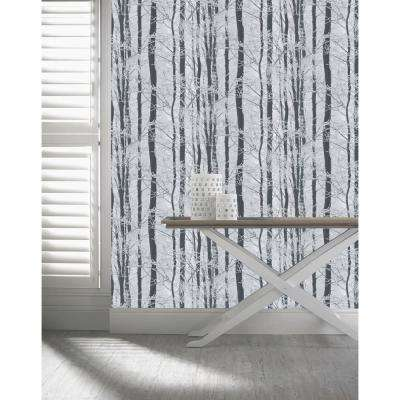 Frosted Wood Silver Un-Pasted Wallpaper