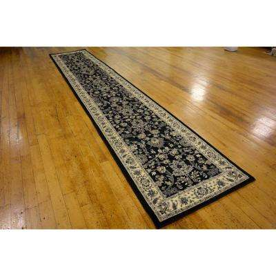 Sialk Hill Washington Black 3' 0 x 16' 5 Runner Rug