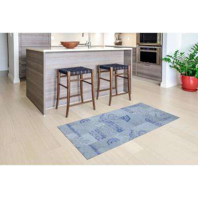 Dandy Blue/Gray 2 ft. x 5 ft. Indoor/Outdoor Runner Rug