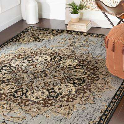 Sora Medium Grey 8 ft. 10 in. x 12 ft. 9 in. Oriental Area Rug