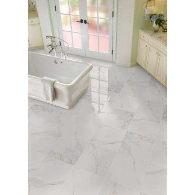 Adella Calacatta 18 in. x 18 in. Matte Porcelain Floor and Wall Tile (11.25 sq. ft. / Case)