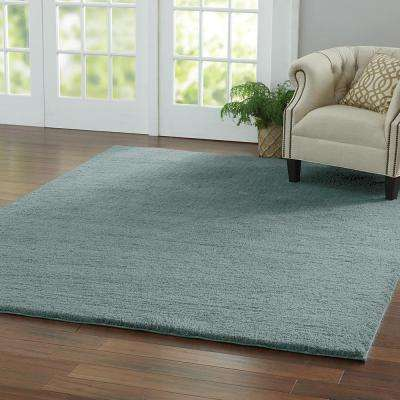 Ethereal Shag Aqua Sea 8 ft. x 8 ft. Square Indoor Area Rug