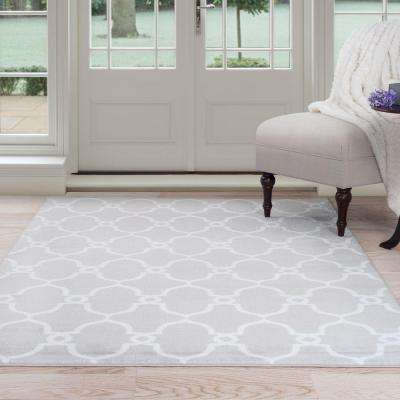 Lattice Grey 8 ft. x 10 ft. Area Rug