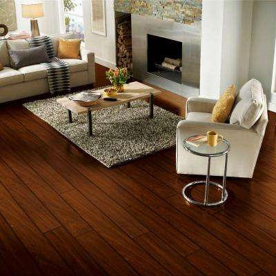 Sapele Roasted Bean 12 mm Thick x 7.64 in. Wide x 88.98 in. Length Click Lock Laminate Flooring (18.78 sq. ft. / case)