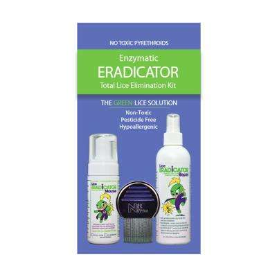 Lice ERADICATOR Foam Natural and Non-Toxic Mousse Treatment and Repel Protection Spray Combo Set