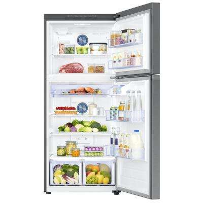 17.6 cu. ft. Top Freezer Refrigerator with FlexZone Freezer in Stainless, Energy Star