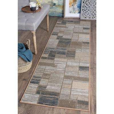 Majesty Taupe 2 ft. x 11 ft. Contemporary Runner Rug