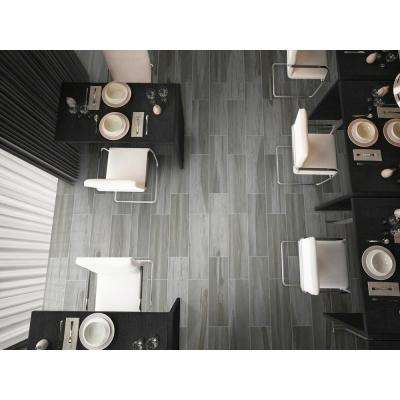 Carolina Timber Grey 6 in. x 36 in. Glazed Ceramic Floor and Wall Tile (15 sq. ft. / case)