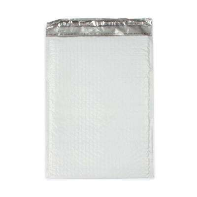 Pratt Retail Specialties 10.5 inch x 15.25 inch White Poly Bubble Mailers with Adhesive Easy Close Strip 100/Case