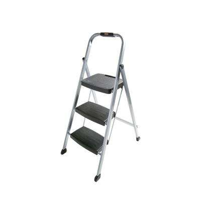 3-Step Steel Step Stool Ladder