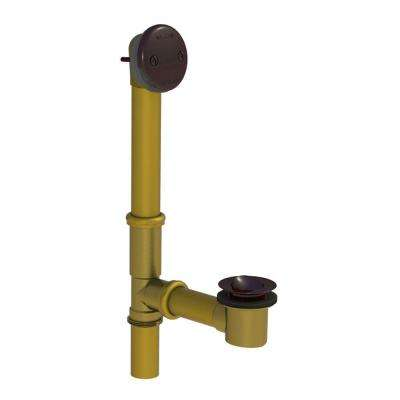 551 Series 24 in. Tubular Brass Bath Waste with PresFlo Bathtub Stopper, Oil-Rubbed Bronze