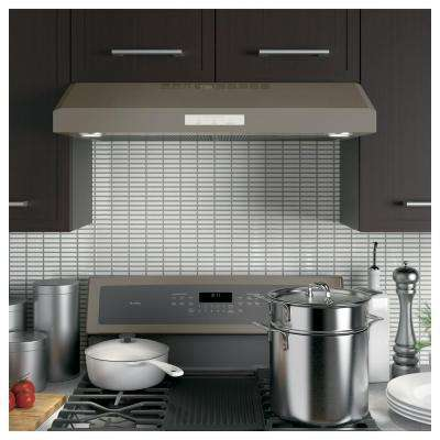 Profile 30 in. Under Cabinet Convertible Range Hood with Light in Slate, Fingerprint Resistant