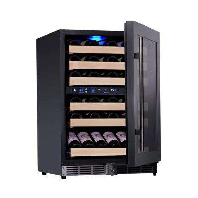 Dual Zone 23.42 in. 46-Bottle Convertible Wine Cooler