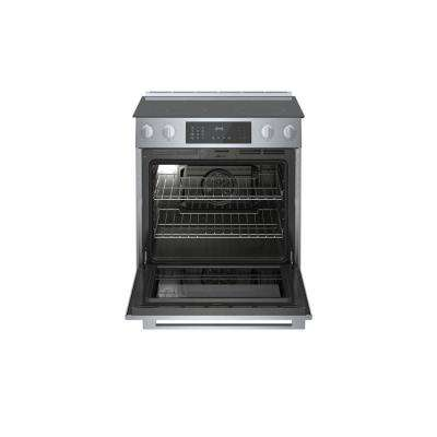 800 Series 30 in. 4.6 cu. ft. Slide-In Electric Range with Self-Cleaning Convection Oven in Stainless Steel