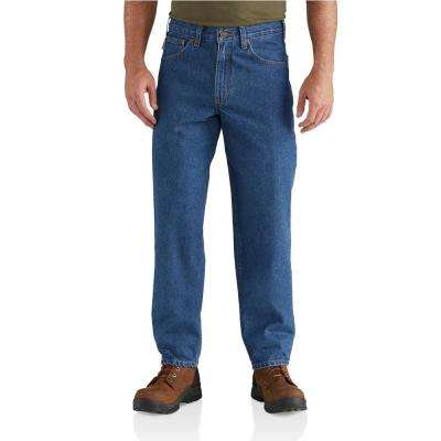 Men's Darkstone Cotton Tapered Leg Denim Bottoms