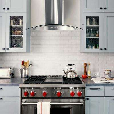 30 In Ducted Wall Mount Range Hood Stainless