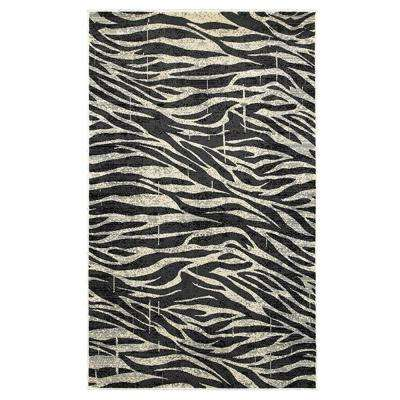 Adana White/Anthracite 7 ft. 9 in. x 9 ft. 10 in. Vibrant Indoor Area Rug
