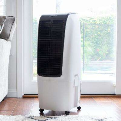 620 CFM 4-Speed 2-In-1 Evaporative Cooler (Swamp Cooler) and Fan with Removable Water Tank for 350 sq. ft. - White
