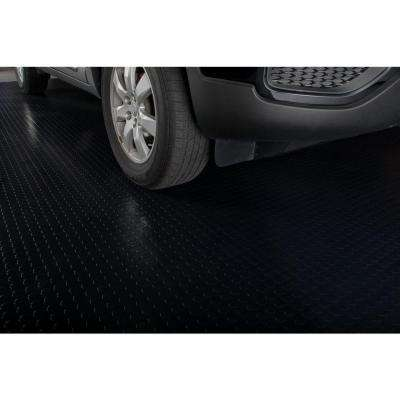 Coin 7.5 ft. x 17 ft. Midnight Black Commercial Grade Vinyl Garage Flooring Cover and Protector