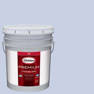 5 gal. #HDGV31 Prom Dress Blue Flat Interior Paint with Primer