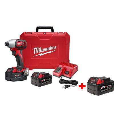 M18 18-Volt Lithium-Ion Cordless 2-Speed Impact Driver XC Kit with Free M18 4.0 Ah Extended Capacity Battery