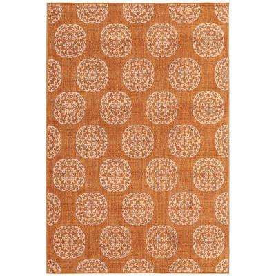 Essex Medallion Rust 9 ft. 6 in. x 12 ft. 2 in. Area Rug