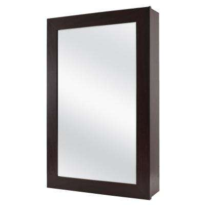 15-1/4 in. W x 26 in. H Framed Surface-Mount Bathroom Medicine Cabinet in Java
