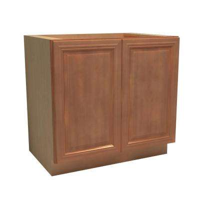 36x34.5x24 in. Dartmouth Assembled Base Cabinet with 2 Full Height Doors in Cinnamon
