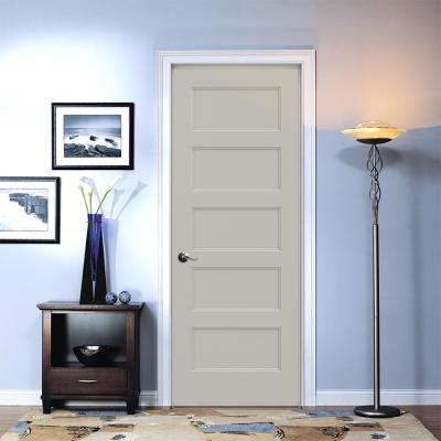 32 in. x 80 in. Conmore Desert Sand Paint Smooth Hollow Core Molded Composite Single Prehung Interior Door